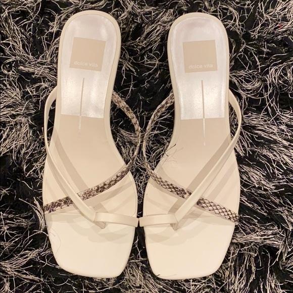Brand New White Sandals Size